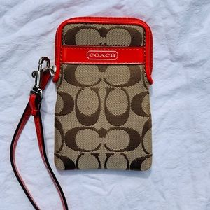Coach Wristlet/Phone Wallet VERY GOOD CONDITION
